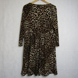 e18ffa2574a7a MICHAEL Michael Kors Dresses - MICHAEL Michael Kors Empire Leopard Print  Dress L